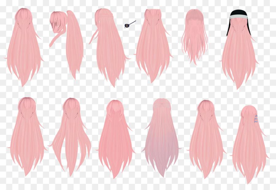 long hair bun mikumikudance bangs hair png download
