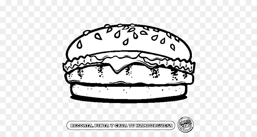 Hamburger Patates Kızartması çizim Boyama Kitabı Cheeseburger