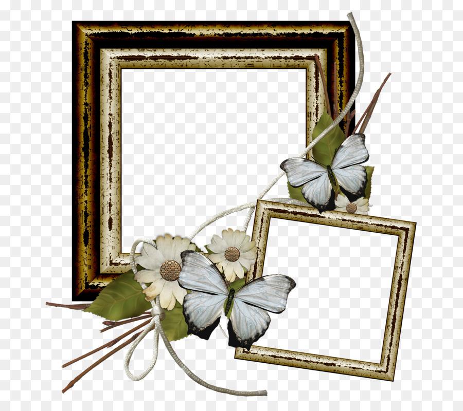 Floral Design Picture Frames Flower Mom Frame Png Download 768