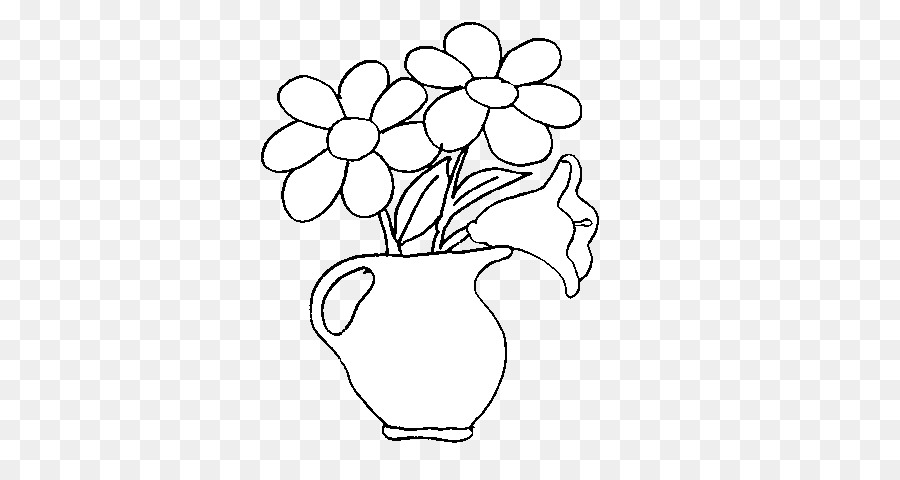 A Vase of Flowers Drawing Coloring book Painting - vase png download ...