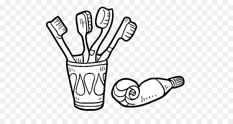 Diş Fırçası Diş Macunu Diş Fırçalama Boyama Kitabı Diş Fırçası