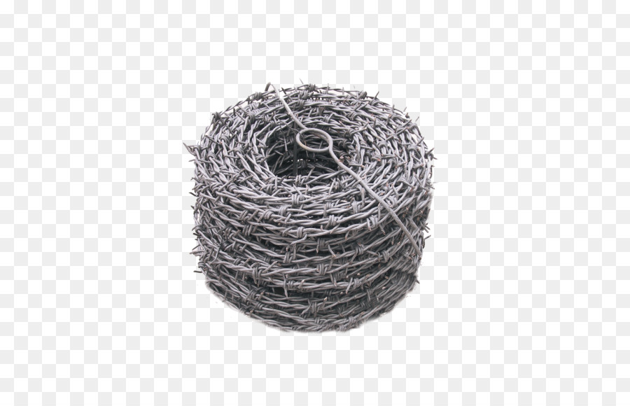 Barbed wire Chicken wire Fence Electrogalvanization - Fence png ...