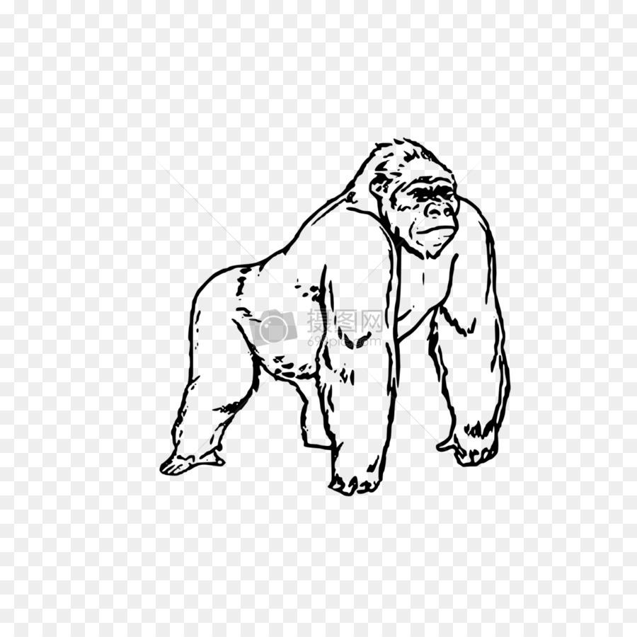 Gorila libro para Colorear, Páginas para Colorear Imagen de Niño ...