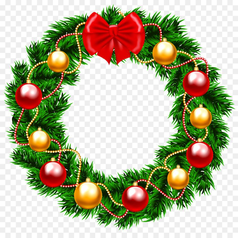 Christmas Wreaths Clip art Christmas Day Portable Network Graphics ...