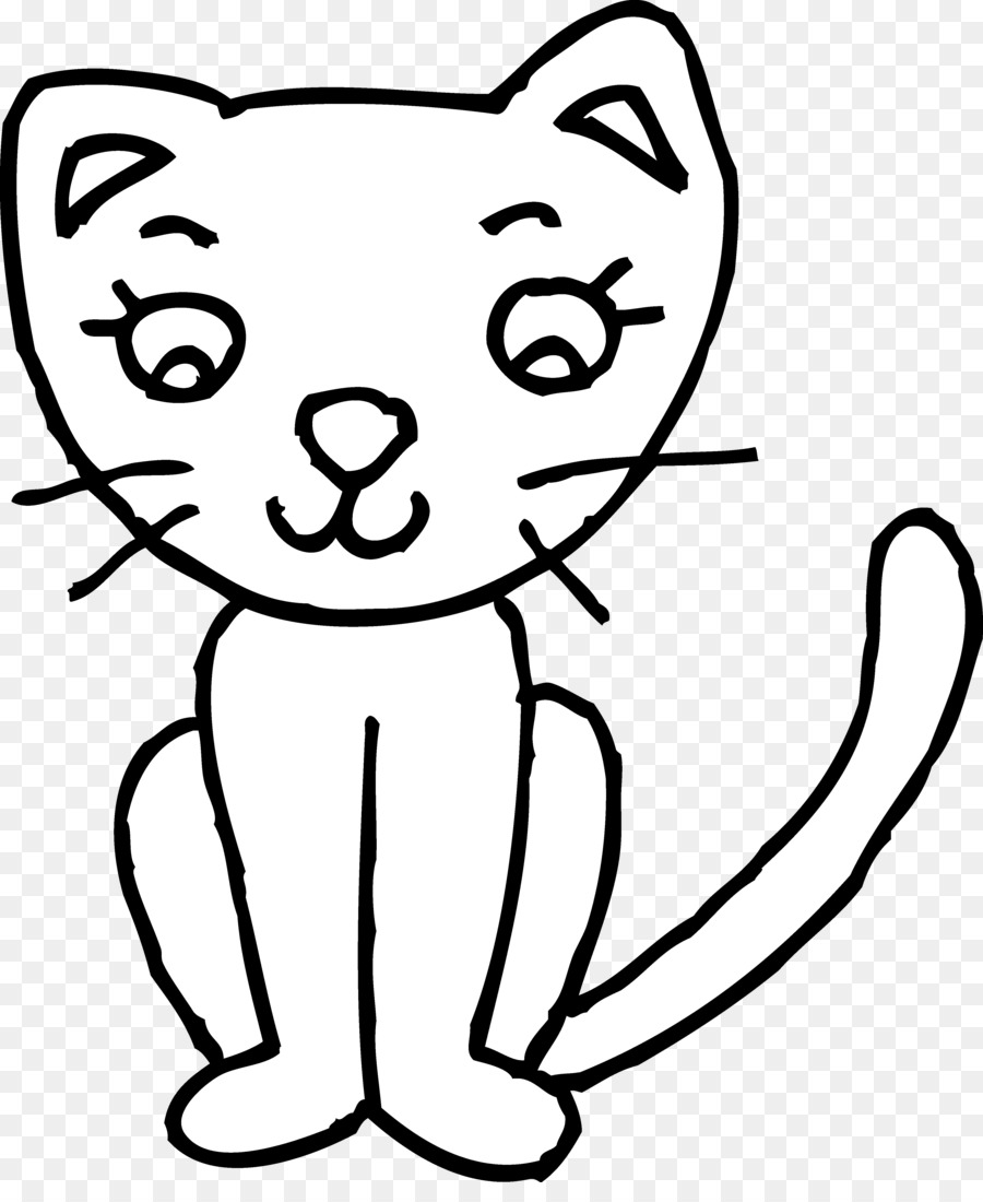 Cat Kitten Clip Art Coloring Book Openclipart
