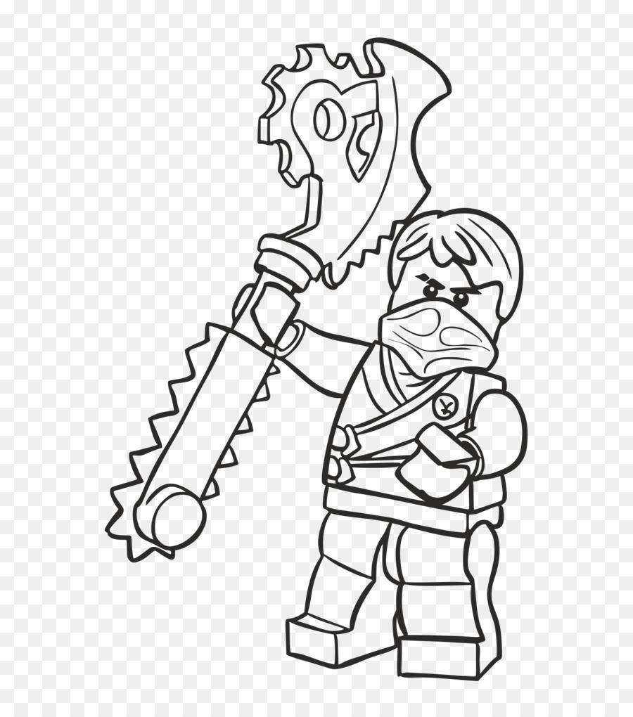 Libro Da Colorare Illustrazione Line Art Dito Disegno Ninjago