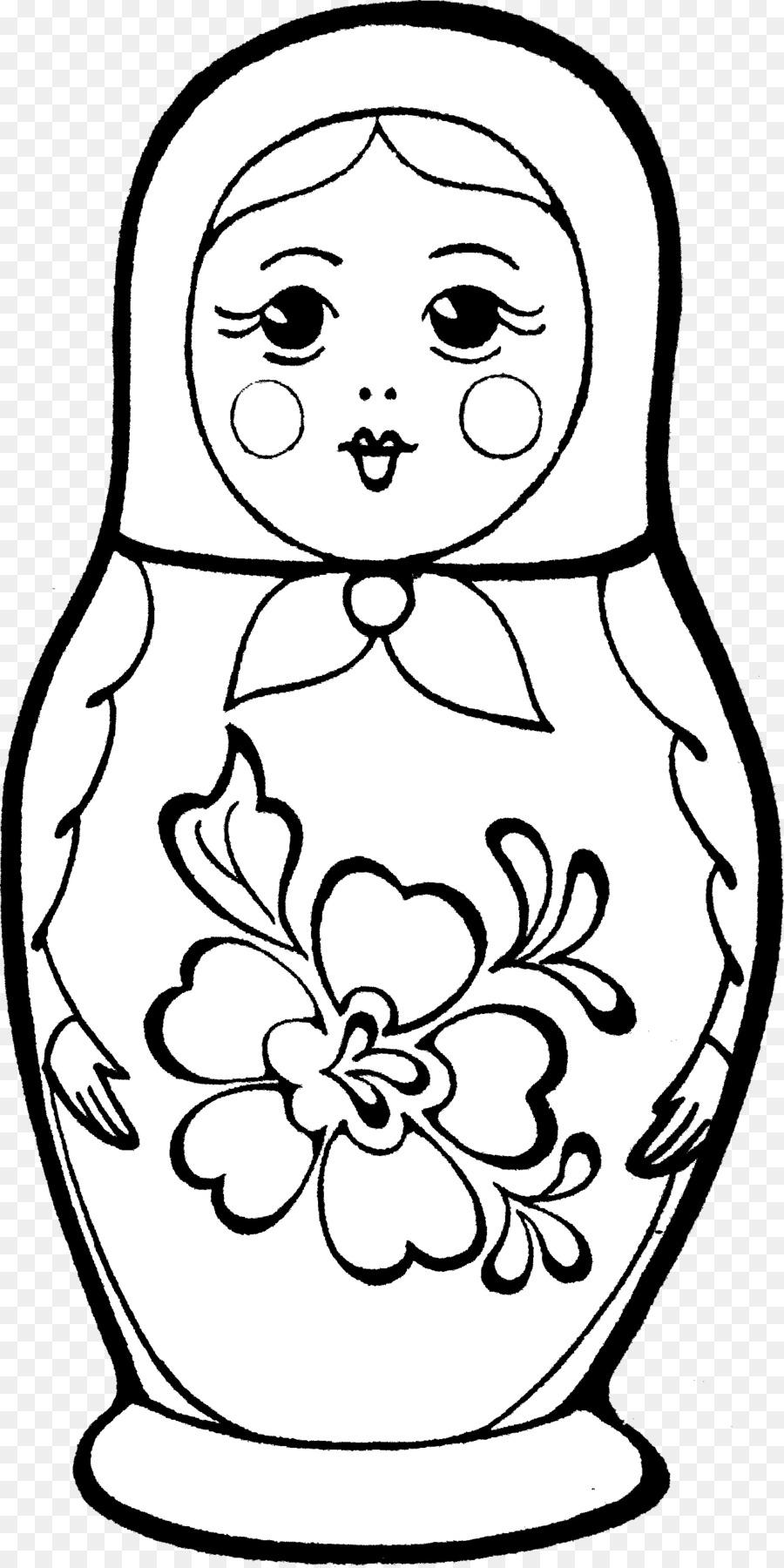 Libro para colorear de Matryoshka muñeca de Dibujo de la Imagen ...