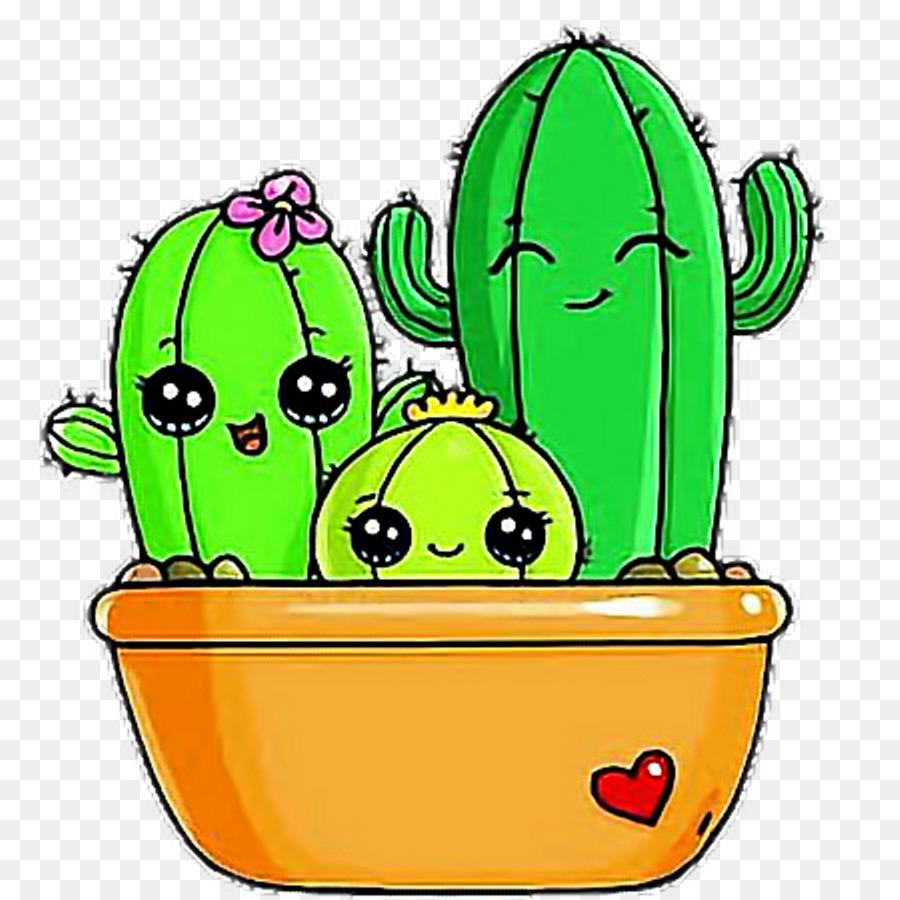 Cactus Drawing Image Clip Art Draw So Cute Cactus Png Download