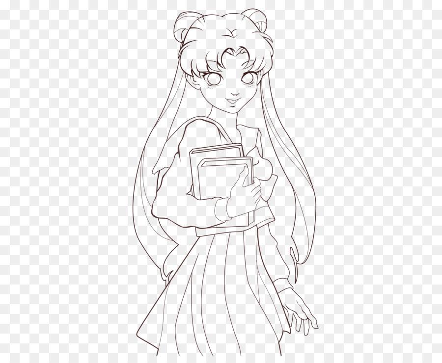 Sailor Moon Linea Arte Chibiusa Disegno Da Colorare Sailor Moon