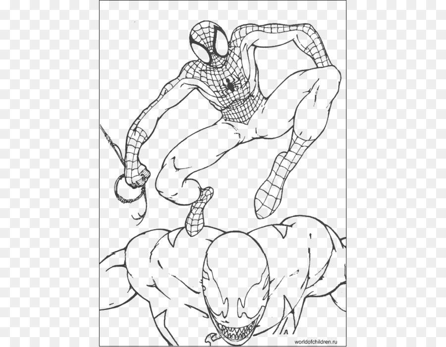 Spider Man Duende Verde Veneno libro para Colorear Sandman - hombre ...