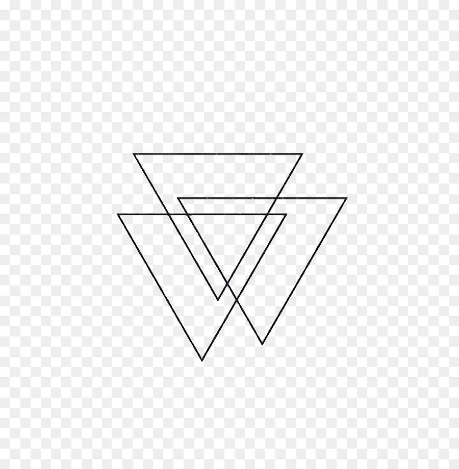 Abziehtattoo Triangle Image Line Art Upside Down Triangle Symbol