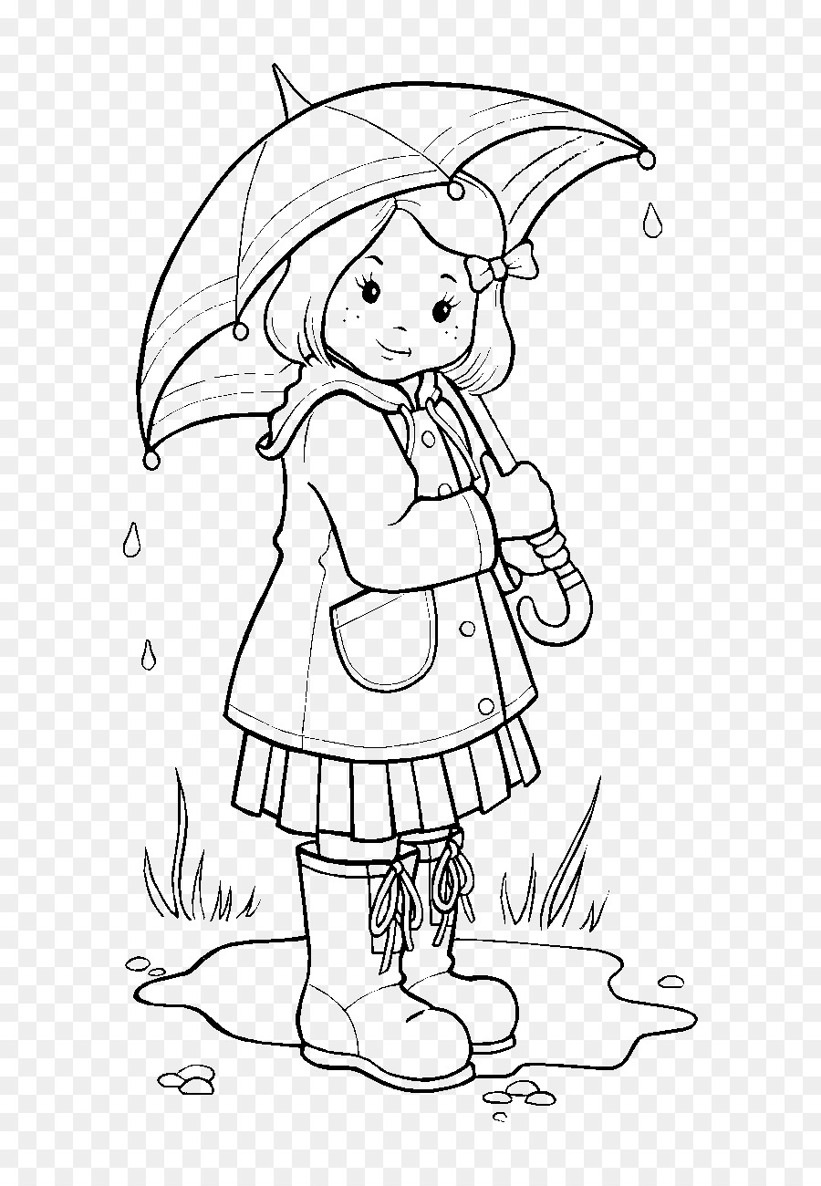Coloring Book Rain Colouring Pages Wet Season