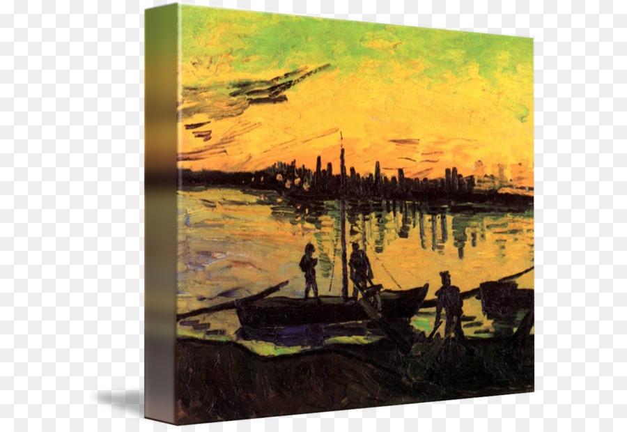 Van Gogh - Carteles de Los Descargadores en Arles la pintura al Óleo ...