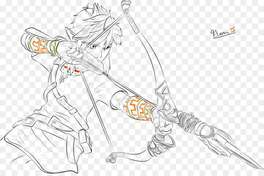 Linha de arte a Arte do jogo de Desenho - zelda link - Transparente ...