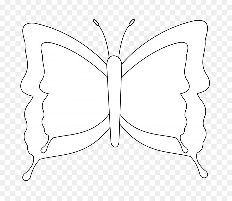 Garis Seni Kupu Kupu Hitam Dan Putih Mewarnai Buku Gambar Kupu Kupu