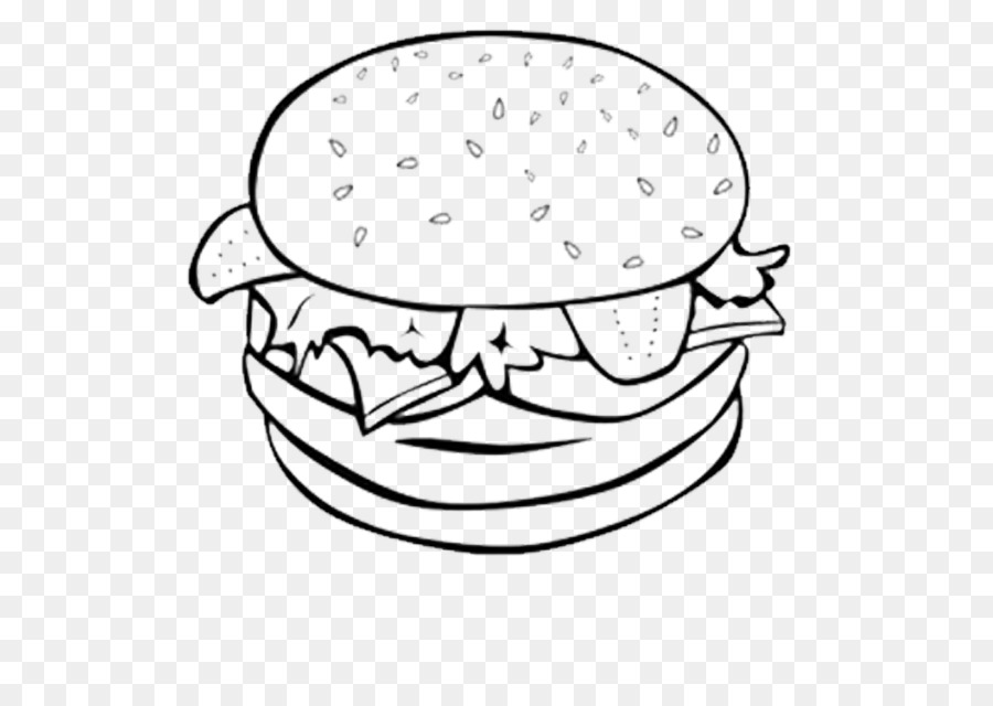 Coloring book Food Coloring Snack Colouring Pages - junk food png ...