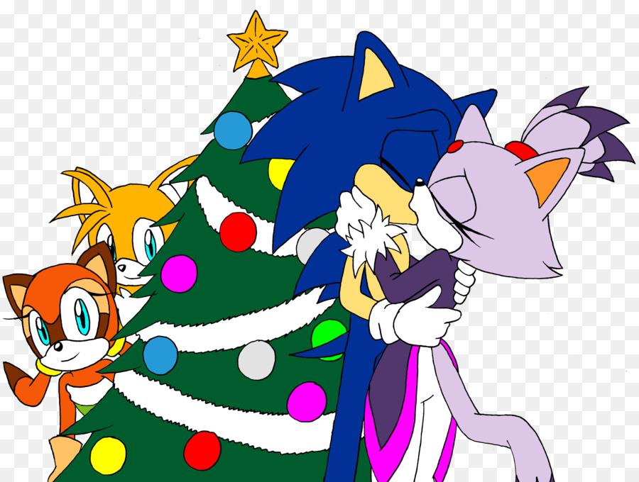 sonic chaos sonic sega all stars racing sonic rush tails christmas day christmas tree - Sonic Hours Christmas Day