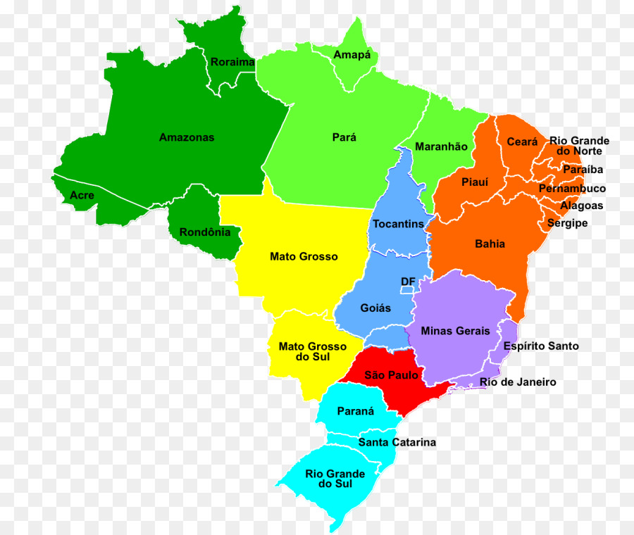 Regions Of Brazil World Map City Map World Map Png Download 868
