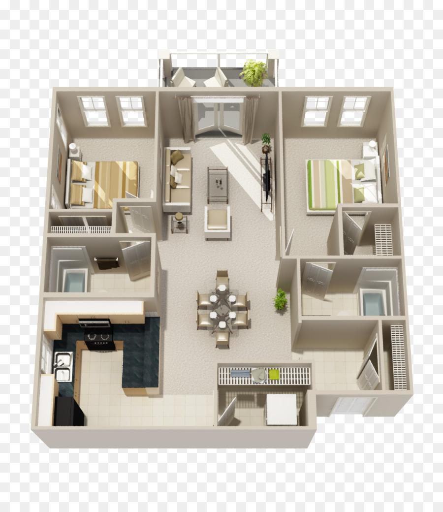 3D Floor Plan House Plan Apartment   Apartment