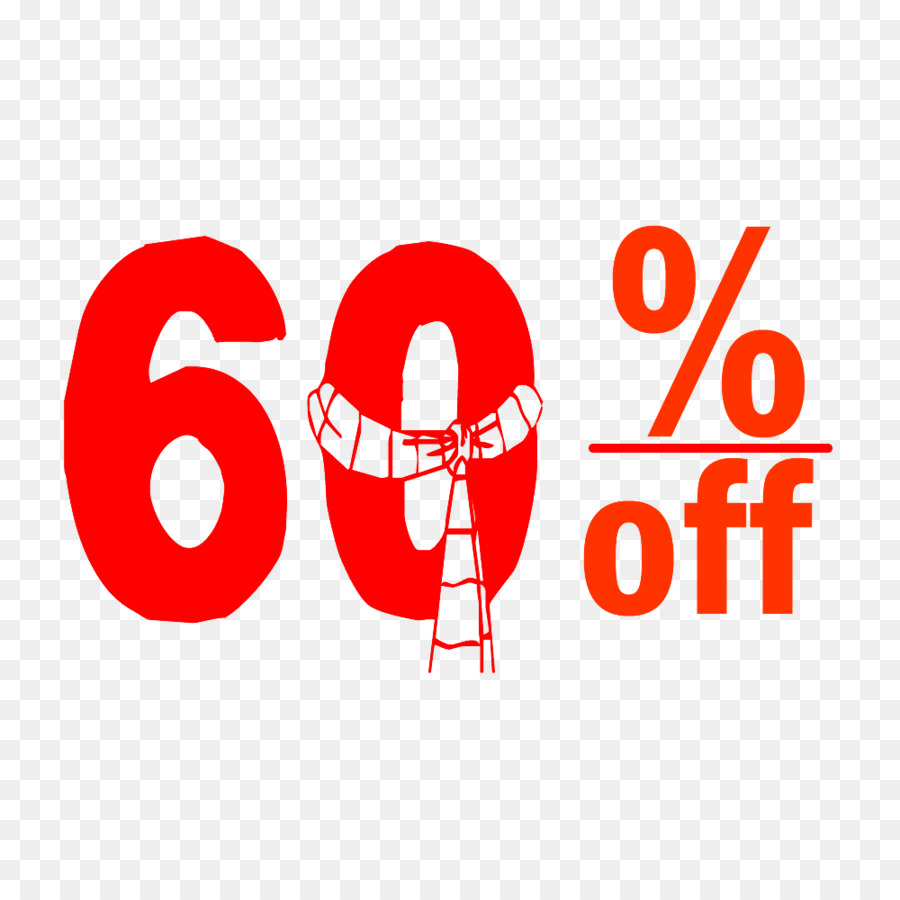 Christmas 60% Discount Tag.png - others png download - 1000*1000 ...