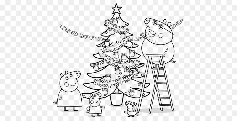 Christmas Tree Line Drawing Png Download 668 458 Free