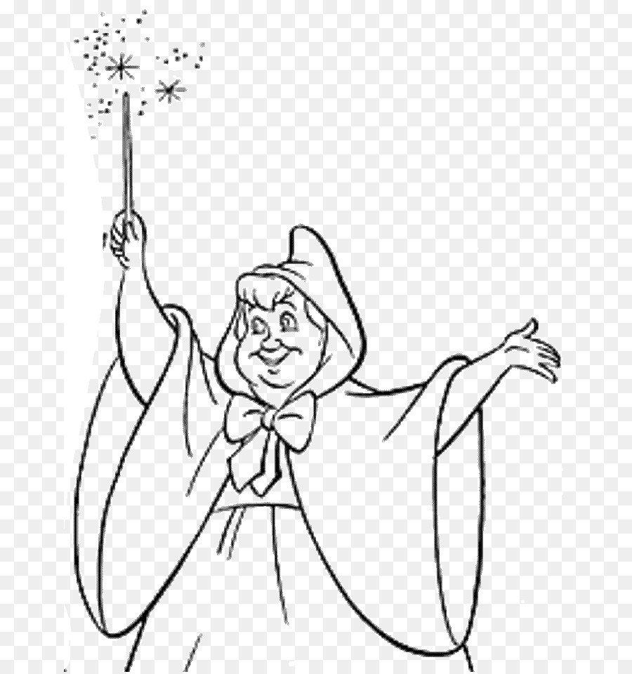 Fairy godmother Cinderella Coloring book Colouring Pages ...