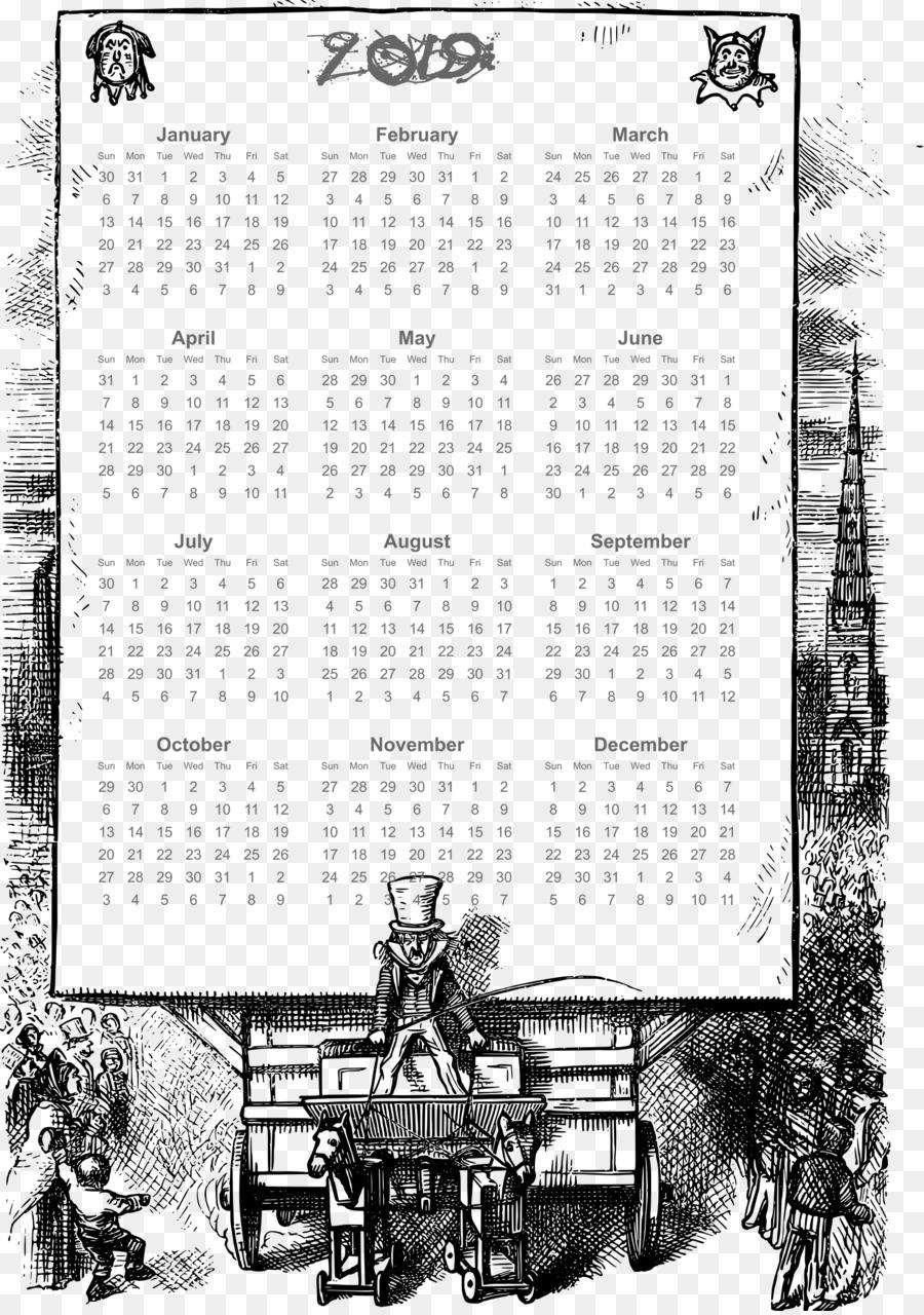 calendario de 2019 png, con desfile de marco.png - otros Formatos De ...