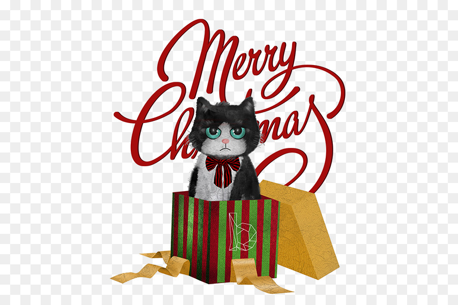 Clip art Cat Illustration Christmas Day Vector graphics - Cat png ...