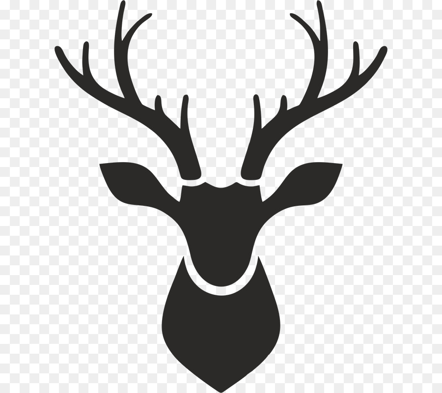 Reindeer Moose Vector Graphics Stencil Deer Png Download 678800