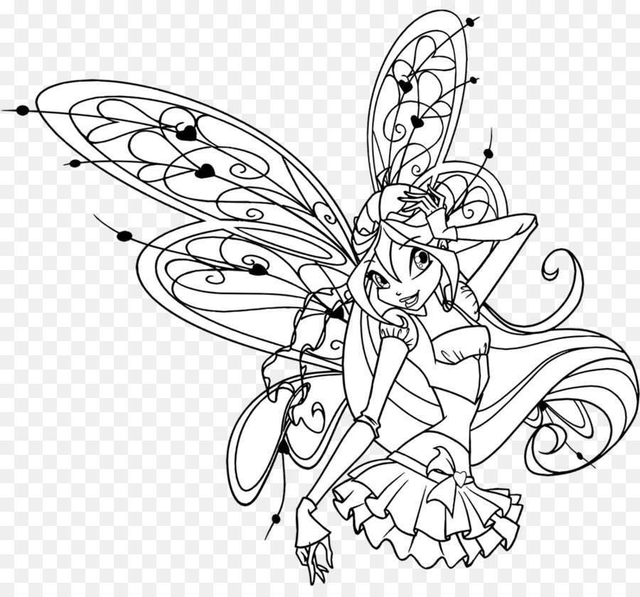 Kleurplaten Van Winx Club Sirenix.Winx Club Believix In You Bloom Drawing Kleurplaat Winx Club