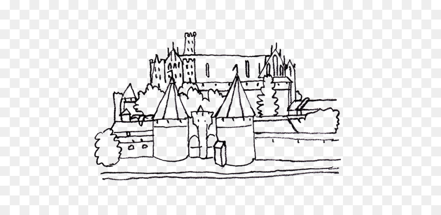 Malbork Castle Colouring Pages Coloring book - castle clipart png ...