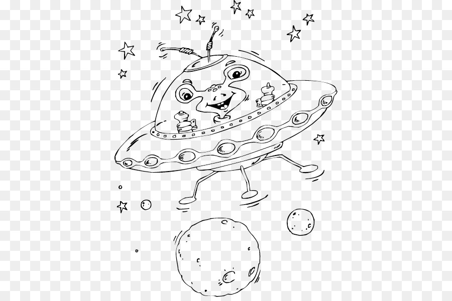 Coloring book Colouring Pages Flying saucer Unidentified flying ...