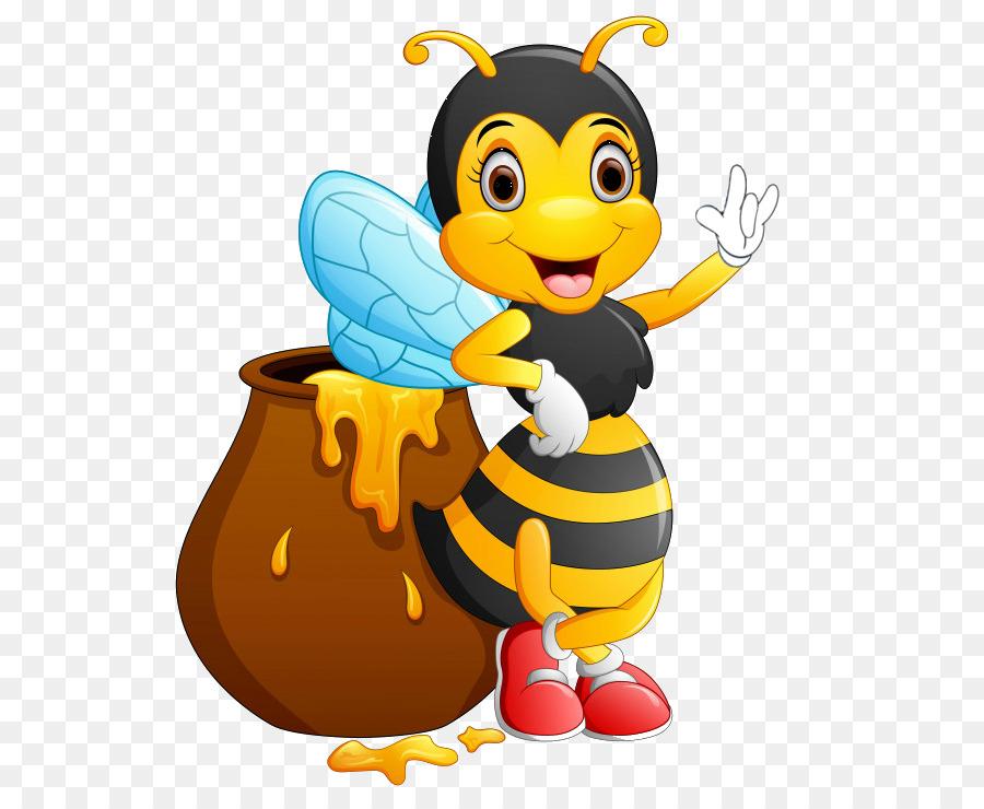 Bee Vektor Grafik Clipart Bild Zeichnen Biene Png Herunterladen