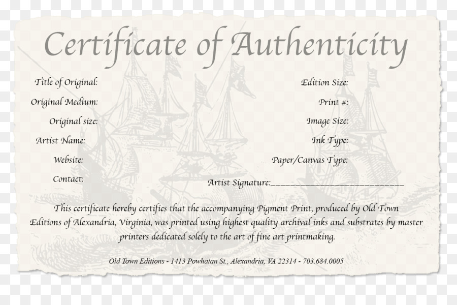 Certificate Of Authenticity Authenticity In Art Work Of Art