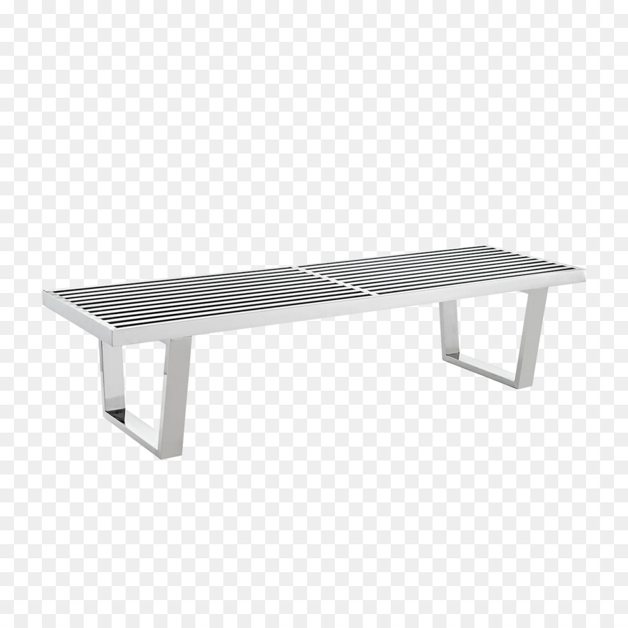 Bench Metal Furniture Stainless Steel Silver Png Download - Stainless steel picnic table