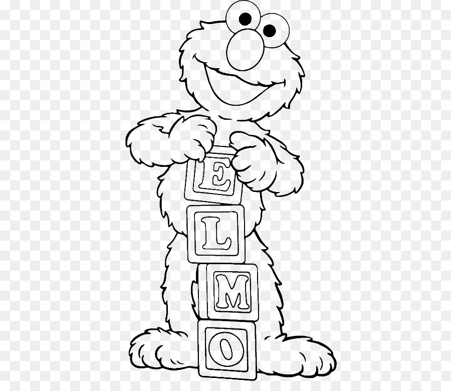 Elmo Coloring book Child Colouring Pages Cookie Monster - child png ...