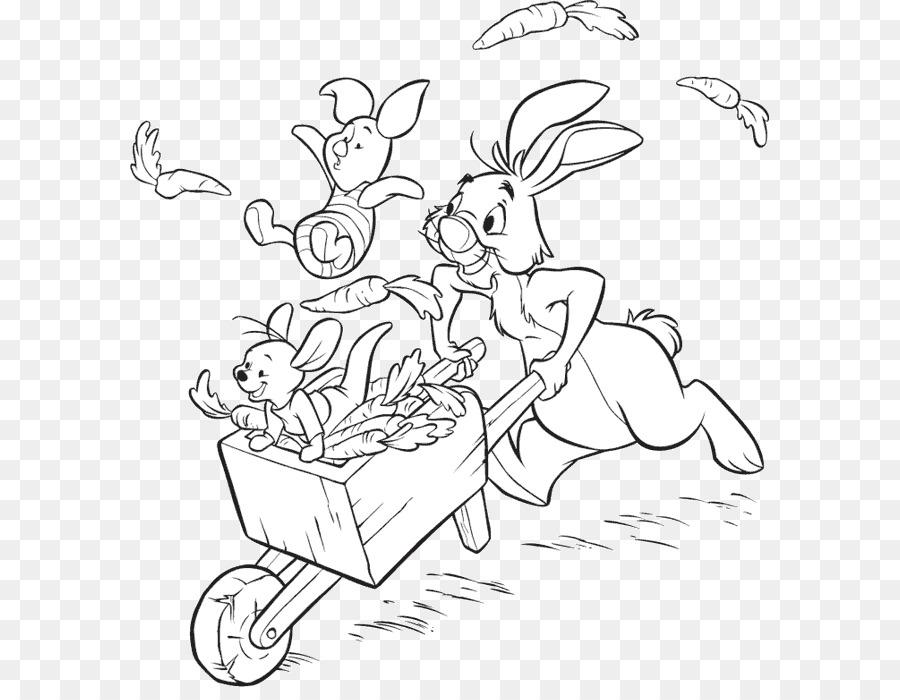Winnie the Pooh de Conejo, Piglet Roo libro para Colorear - Winnie ...