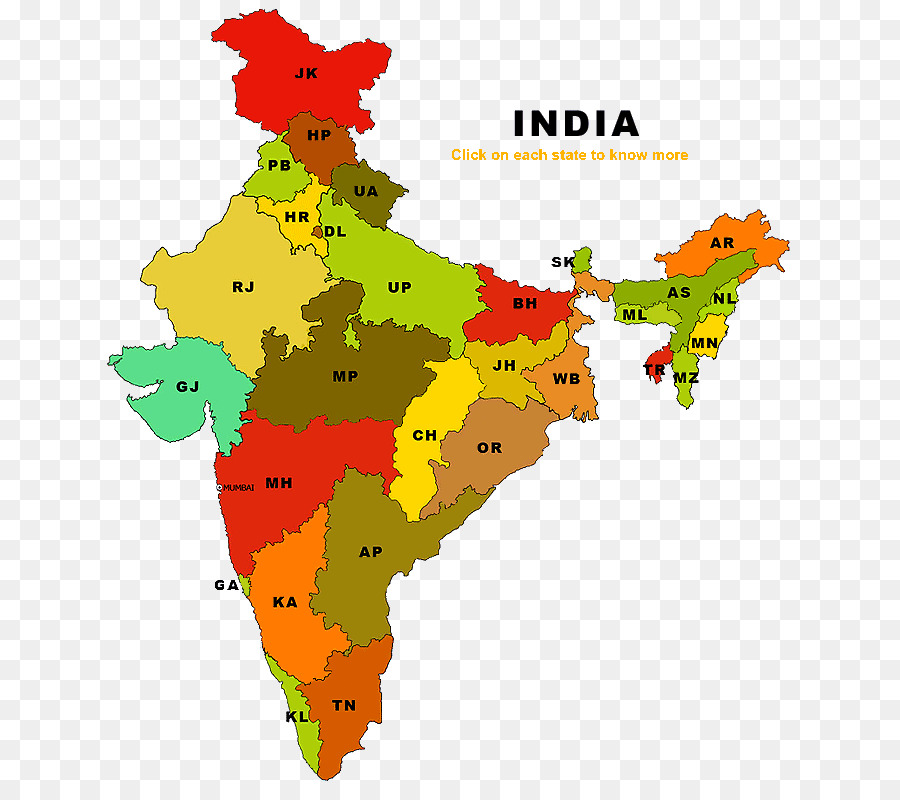 Vector Graphics States Of India Clip Art Map India Png Download