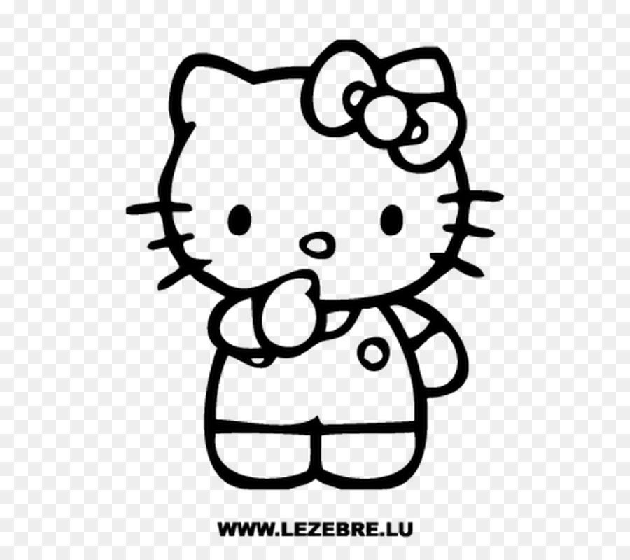 Hello Kitty Colorear Páginas para Colorear Imagen de la etiqueta ...