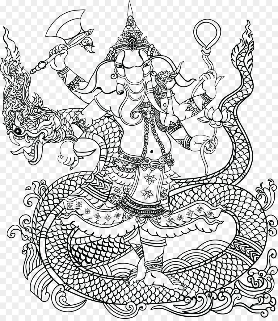 Romántica País: Una Fantasía Libro Para Colorear Mahadeva Ganesha ...
