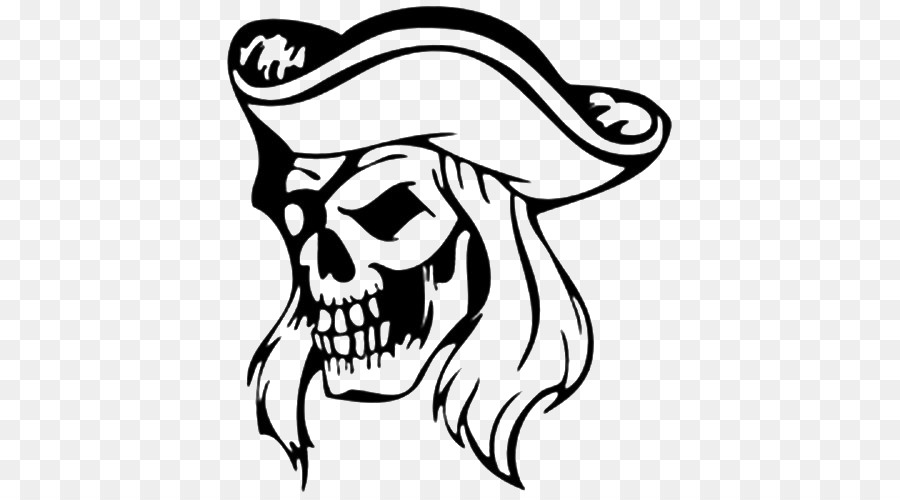 Pirate Skull Sticker Coloring book Decal - pirate png download - 500 ...