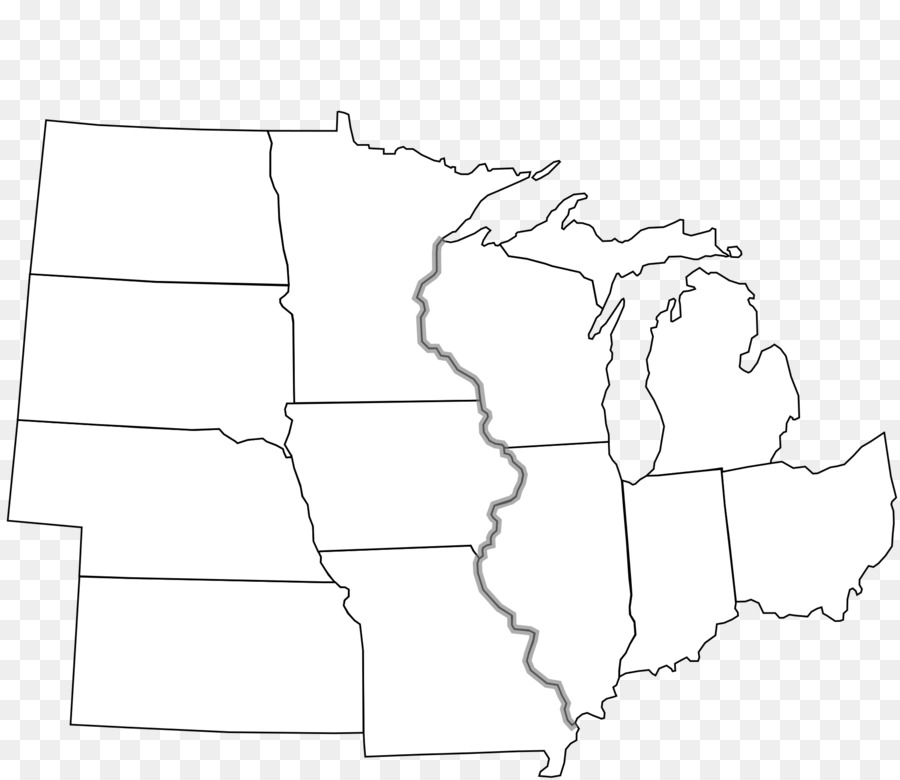 Midwestern United States Blank Map Northeastern United States Map - Map-of-us-midwest-states