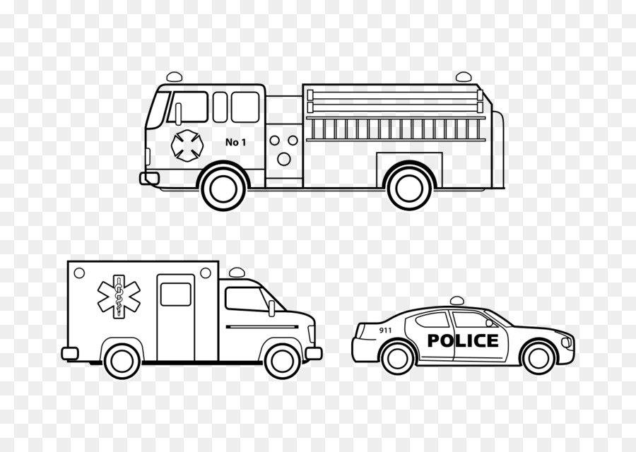 Car Colouring Pages Emergency vehicle Coloring book - car png ...