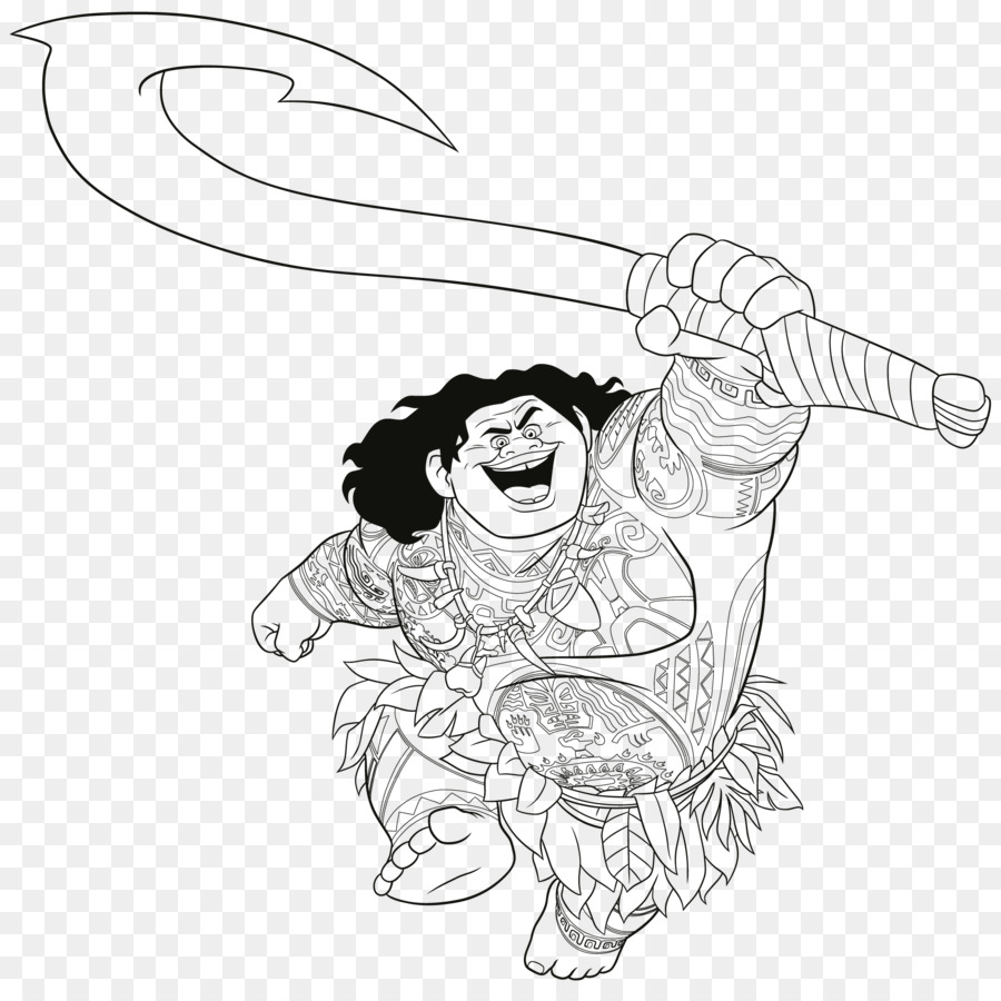 Moana Coloring book Colouring Pages The Walt Disney Company Māui ...