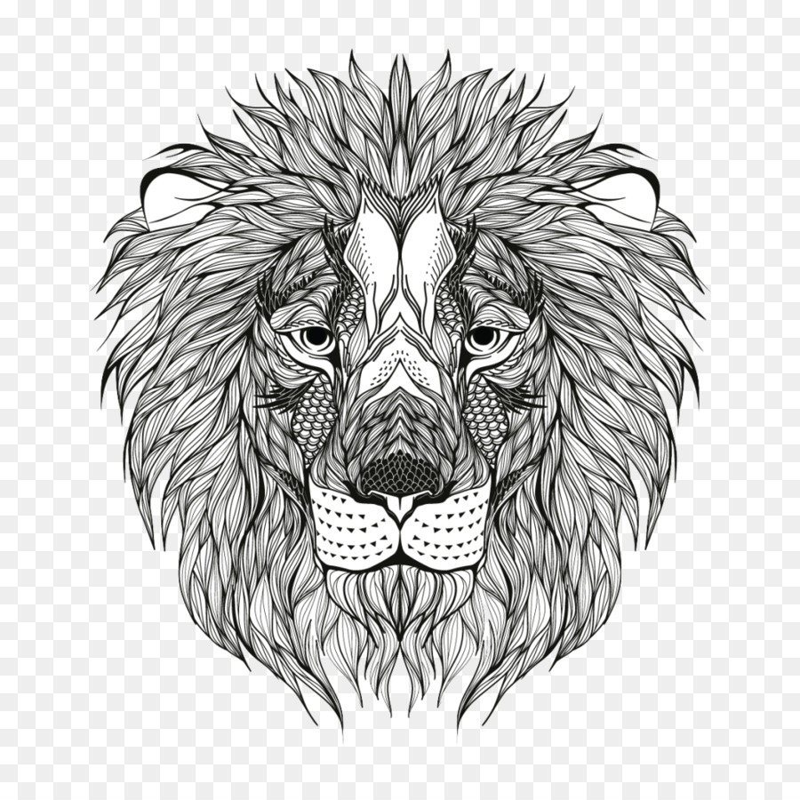 León de libro para Colorear, Imagen de Adultos de Dibujo - león png ...