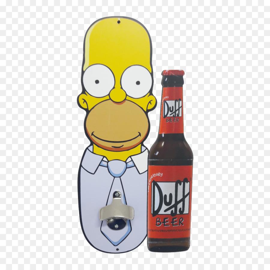6a91115305635 Beer bottle Homer Simpson Duff Beer Bottle Openers - beer png ...