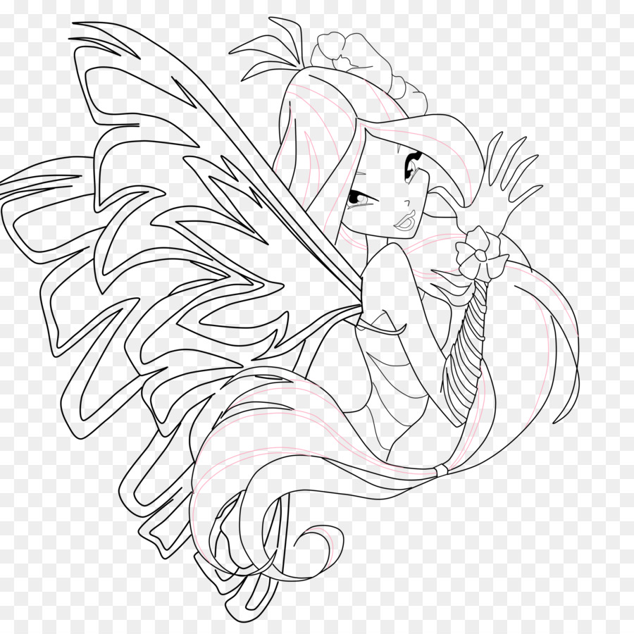 Flora Drawing Sirenix Coloring book Bloom - winx club png download ...