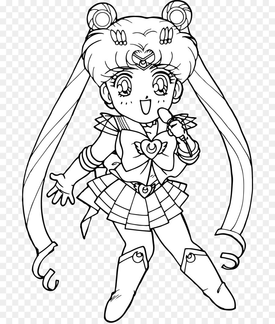 Chibiusa Sailor Moon Libro Da Colorare In Bianco E Nero Sailor