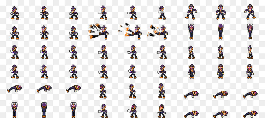 Waluigi Sprite Princess Peach Rpg Maker Mv Luigi Png Download