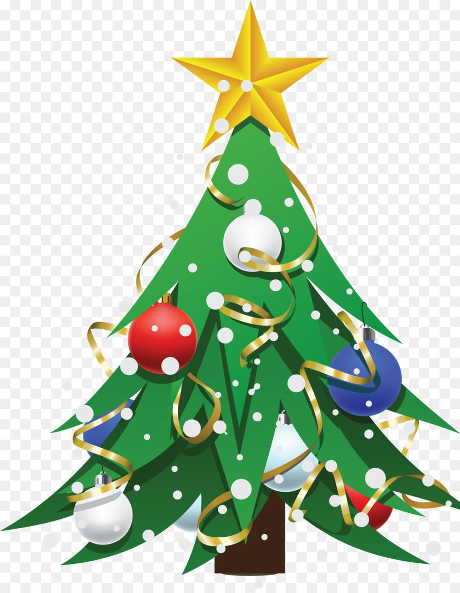 christmas tree christmas day drawing santa claus christmas tree - Santa Decorated Christmas Tree